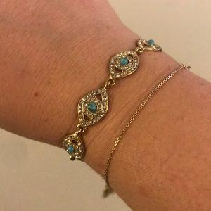 Rebecca Minkoff Evil Eye Bracelet authentic
